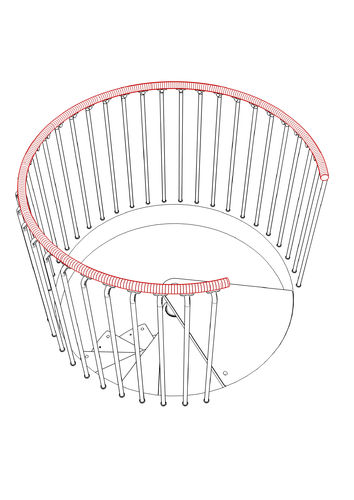 5000mm Circular Plastic Handrail Kit