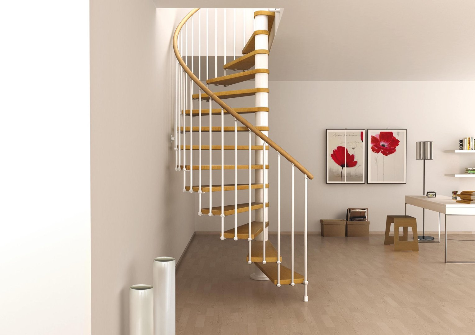 L00l stairs space saving spiral staircase type toscana for Staircases types