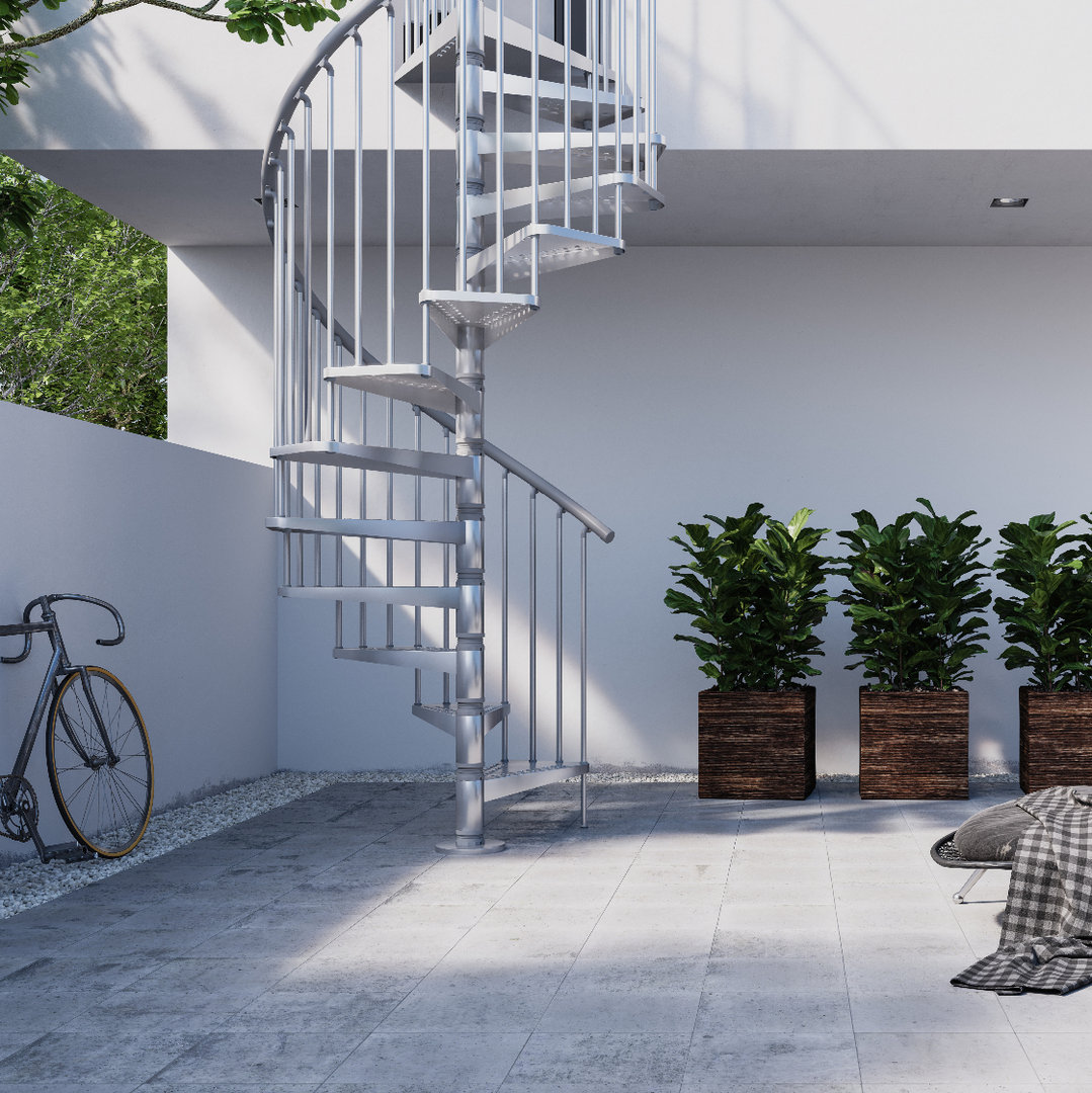 "Outdoor Spiral Staircase Type ""Exterior Zink"""