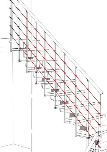 Parallel Wires Kit (for open stairs) 2000mm