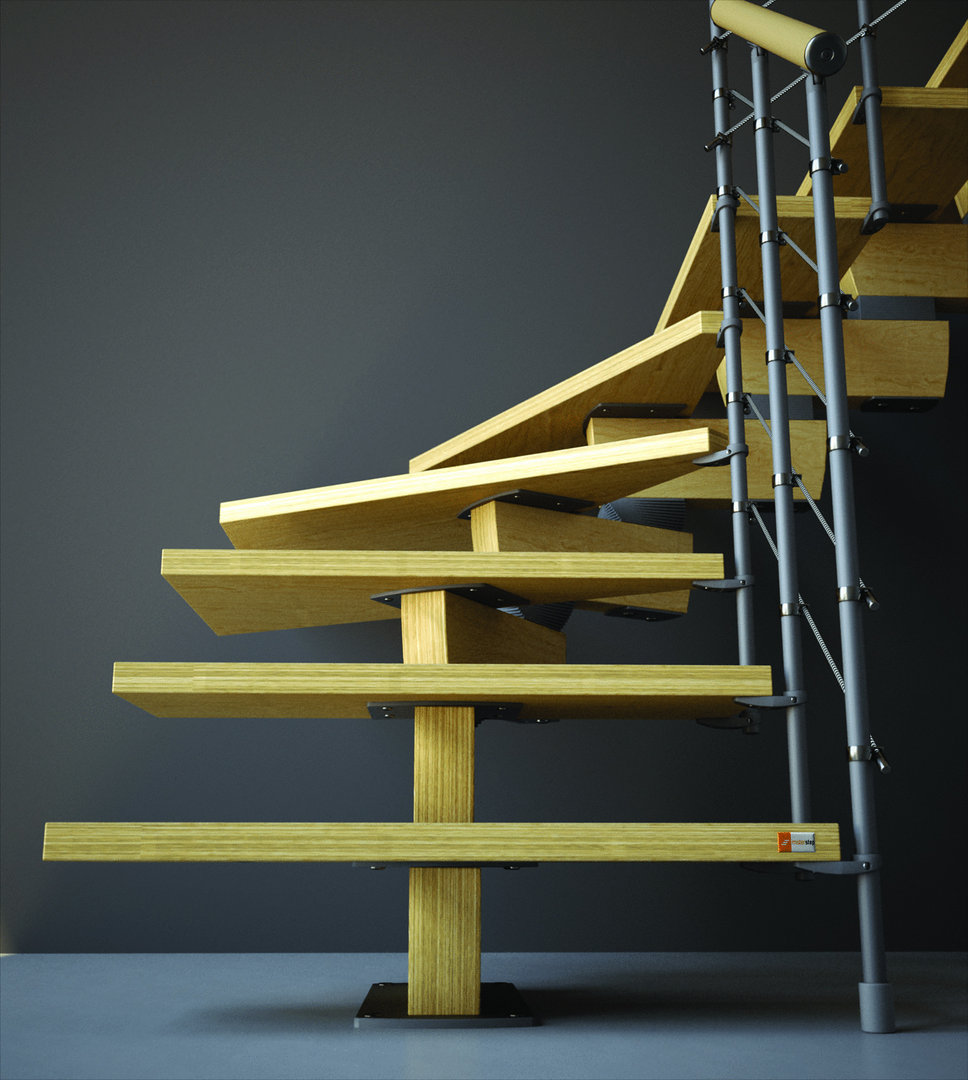 "Timber Staircase Price: Open Staircase Type ""Timber"""