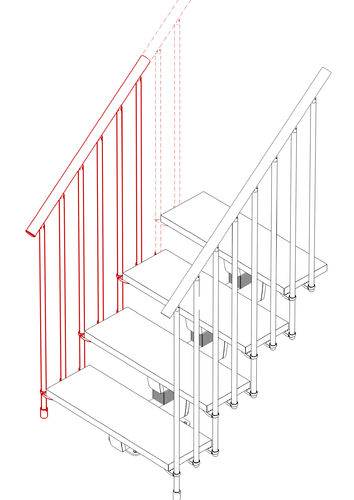 External Railing Kit (3 Steps)