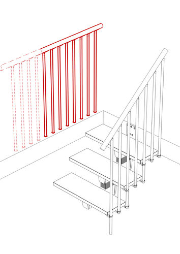 Balustrade Kit 1000mm (for open staircases)