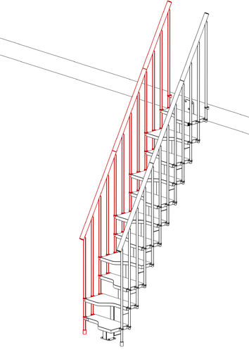 External Railing Kit (11 Treads)