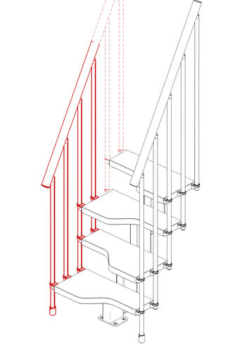 "External Railing Kit 3 Steps Type ""Mini"""