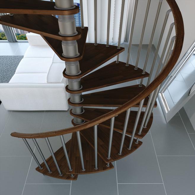 L00l trappen houten leuning wenteltrap type gamia for Houten wenteltrap