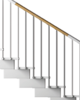 "External Railing Kit - 3 Treads Type ""Kiara"""