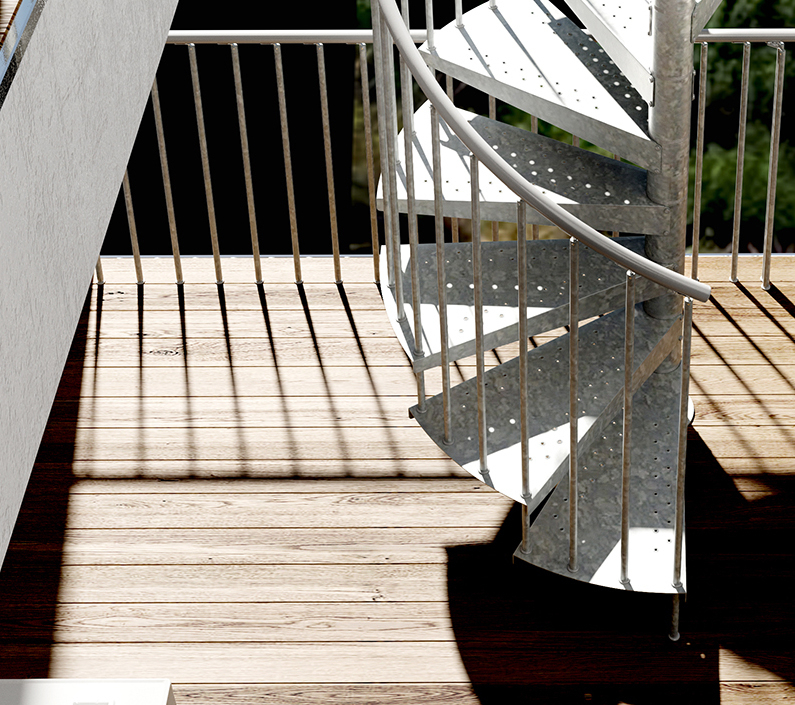 1001 stairs metal spiral staircase type firenze for Aluminum spiral staircase prices