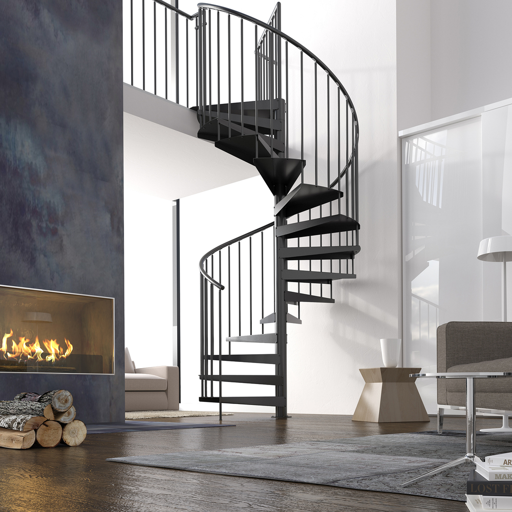 "Spiral Staircase Type ""Firenze XXL"" (Powdercoated)"